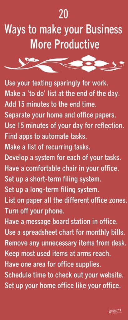 20 Ways to make your Business More Productive