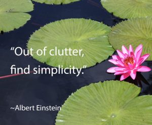 Out of clutter, find simplicity Albert Einstein