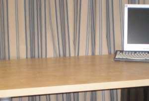 cleared desk top