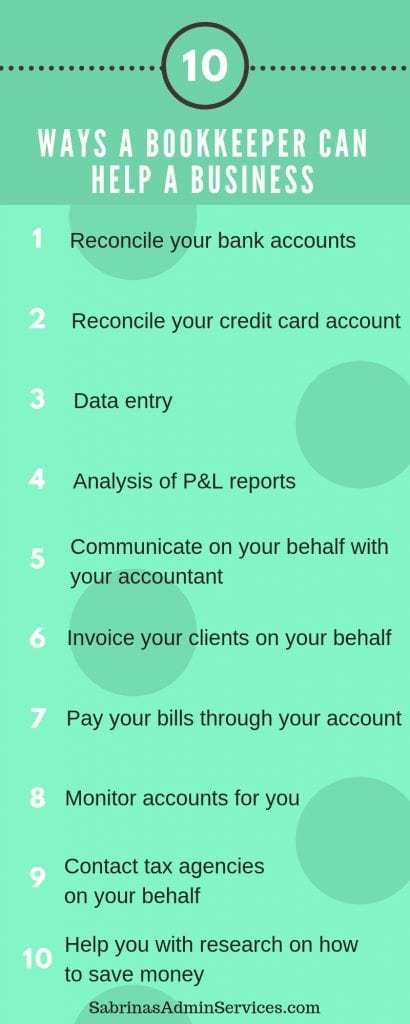10 ways a bookkeeper can help your small business