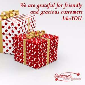 We are grateful for friendly and gracious customers like you. - 11 Free Seasons Greetings Images to Share With Clients