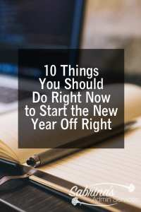 10 things you should do right now to start the new year off right