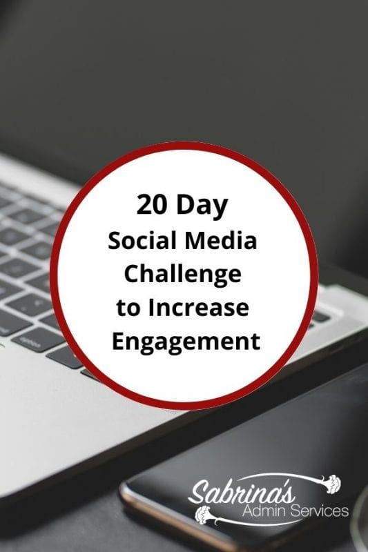 20 Day Social Media Challenge to Increase Engagement