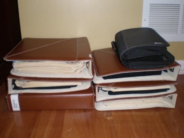 before DVD binders - organizing dvds