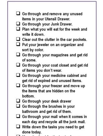 15 organizing tasks