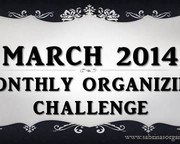 March Monthly Organizing Challenge