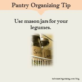 Use mason jars for your legumes.