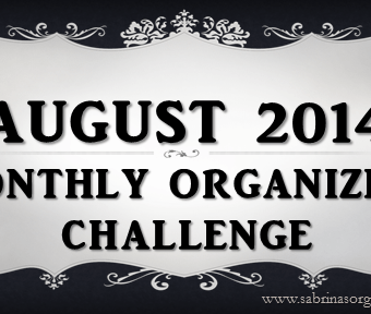 August Monthly Organizing Challenge