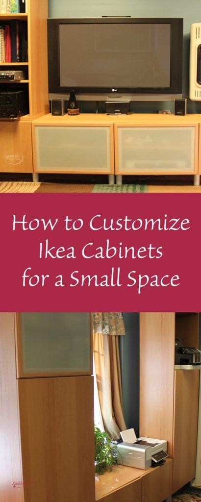 How to Customize Ikea Cabinets for a Small Space