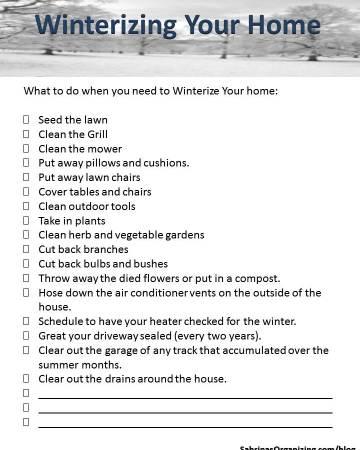 winterizing your home checklist