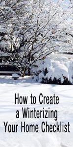 How to Create a Winterizing Your Home Checklist