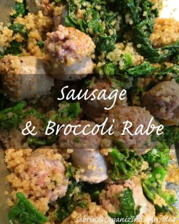 sausage and broccoli rabe recipe
