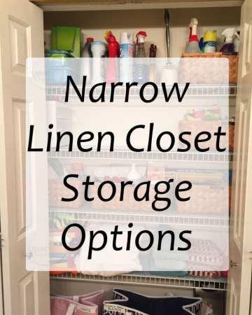 Narrow Linen Closet Storage Options