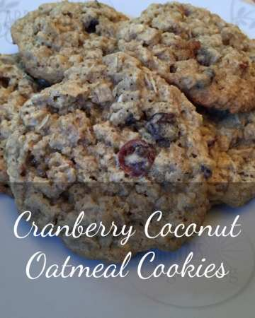 Cranberry Coconut Oatmeal Cookies