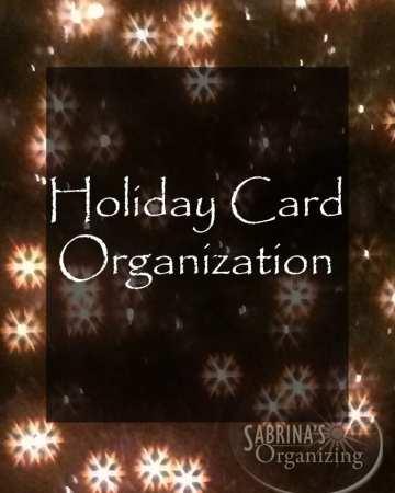 Holiday Card Organization