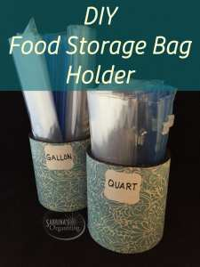 DIY food storage bag holder   Sabrina's Organizing