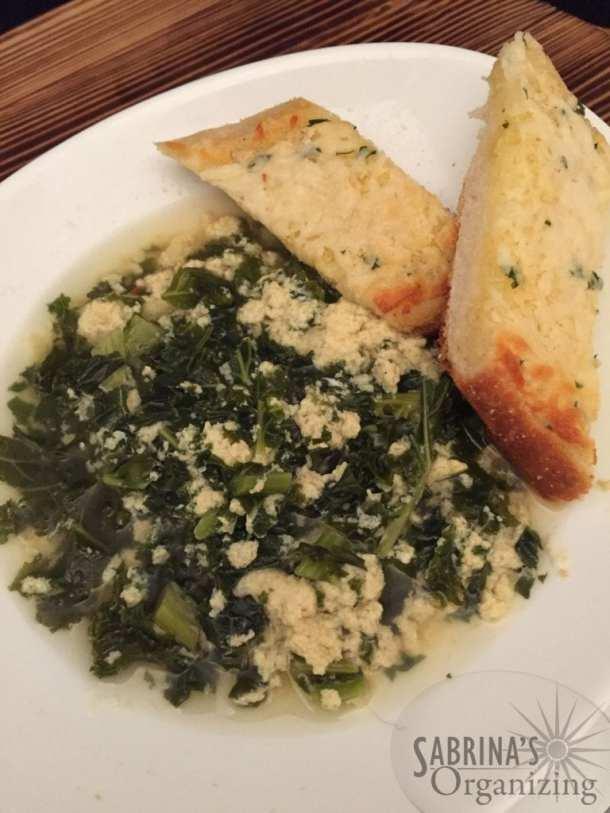 Italian egg drop soup with kale   Sabrina's Organizing