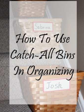 How To Use Catch-All Bins In Organizing | Sabrina's Organizing #organization #bins