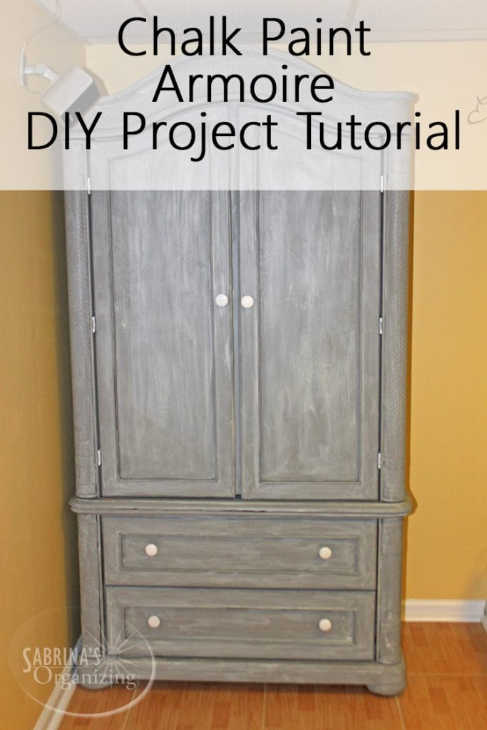 Chalk Paint Armoire Diy Project Tutorial Sabrina S