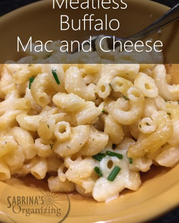 Meatless Buffalo Mac and Cheese