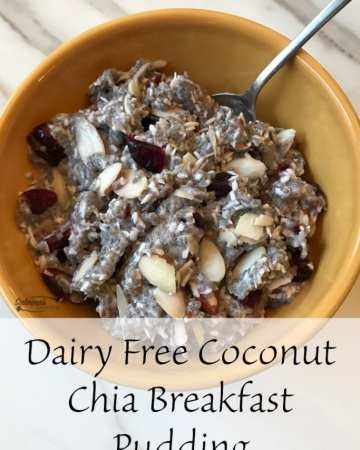Dairy Free Coconut Chia Breakfast Pudding
