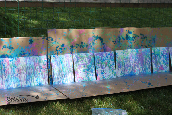 spray paint in water pistols activities