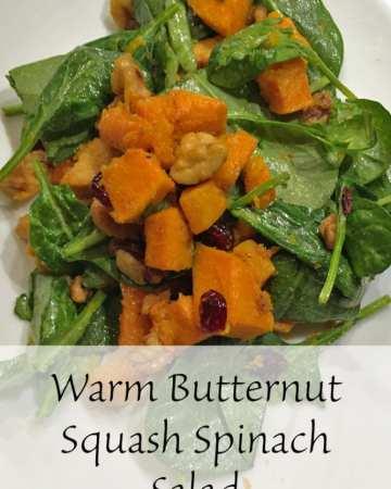 Warm Butternut Squash Spinach Salad