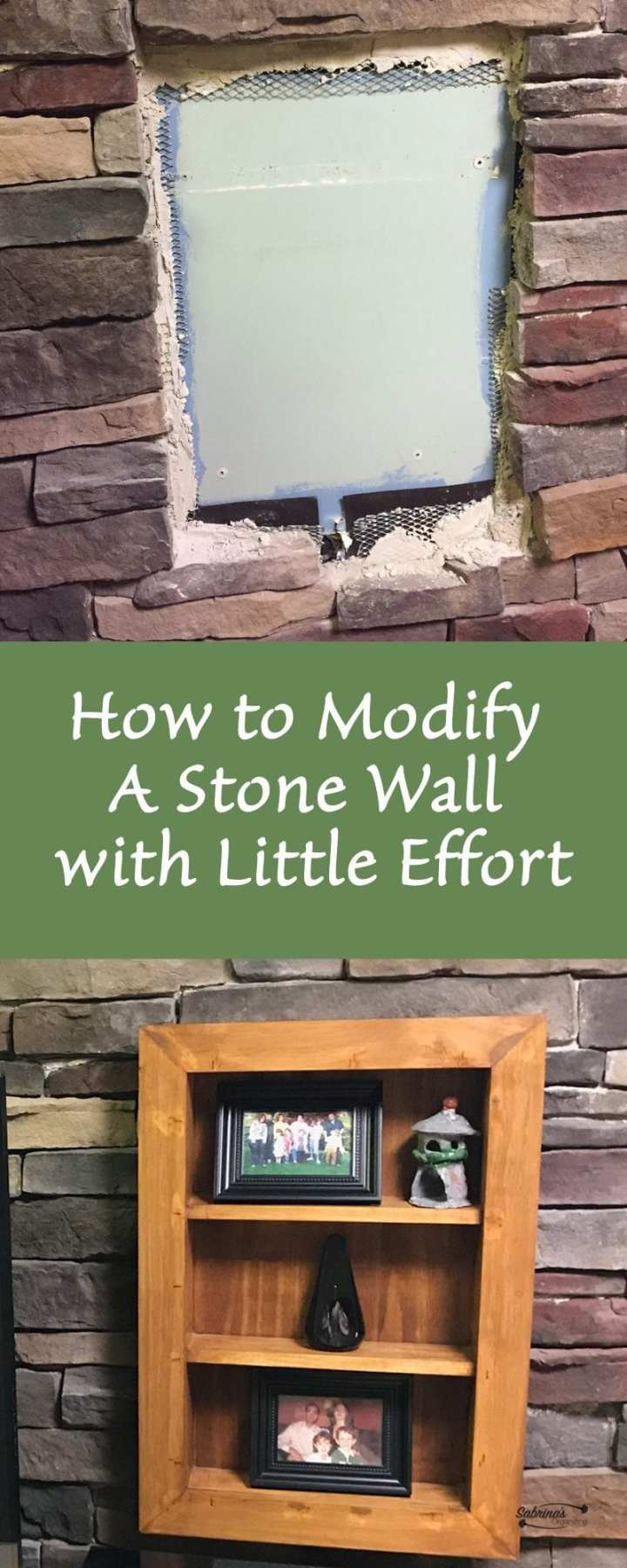 How to modify a stone wall with little effort