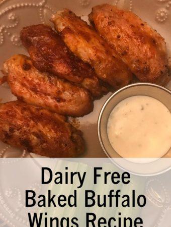 Dairy Free Baked Buffalo Wings Recipe