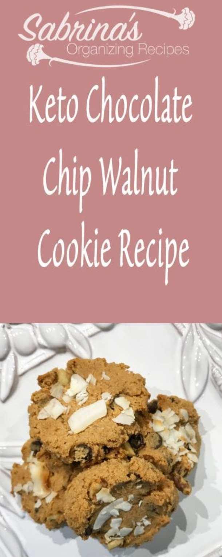 Keto Chocolate Chip Walnut Cookie Recipe