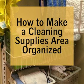 How to Make a Cleaning Supplies Area Organized