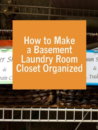 How to Make a Basement Laundry Room Closet Organized