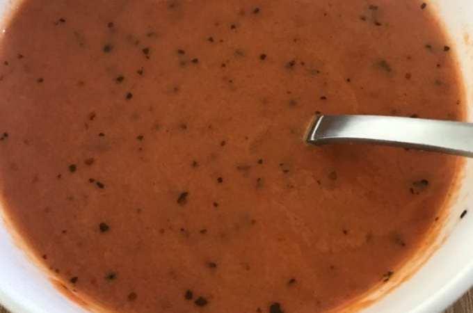 Keto Style Easy Tomato Soup Recipe