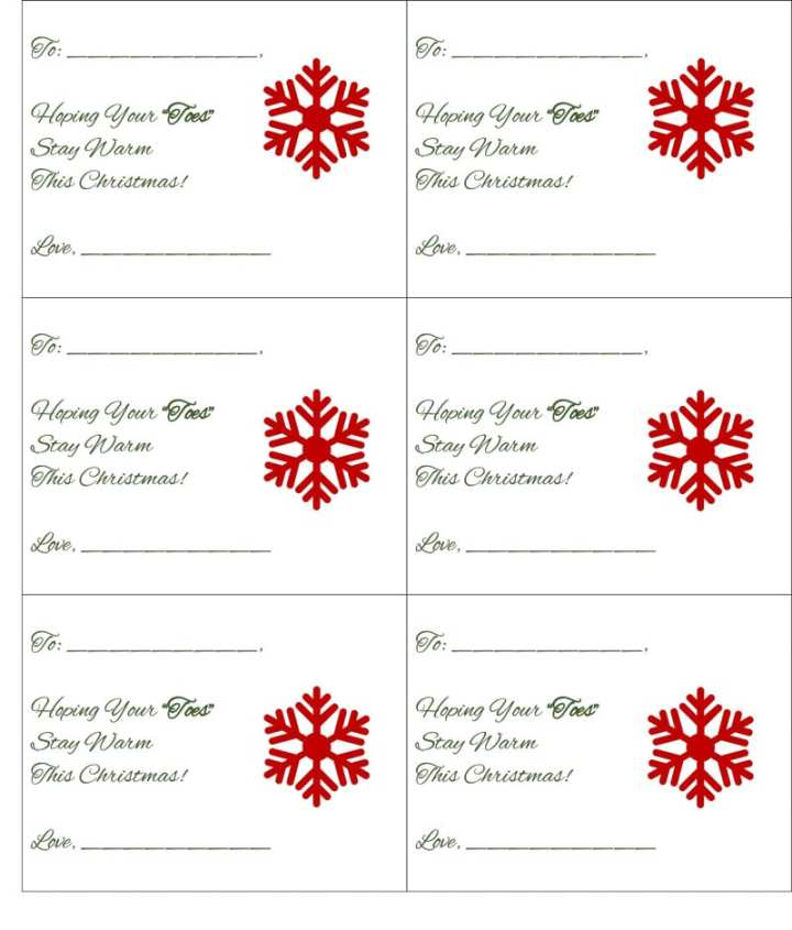 sock favor gift tags