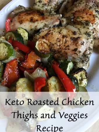 Keto Roasted Chicken Thighs and Veggies Recipe