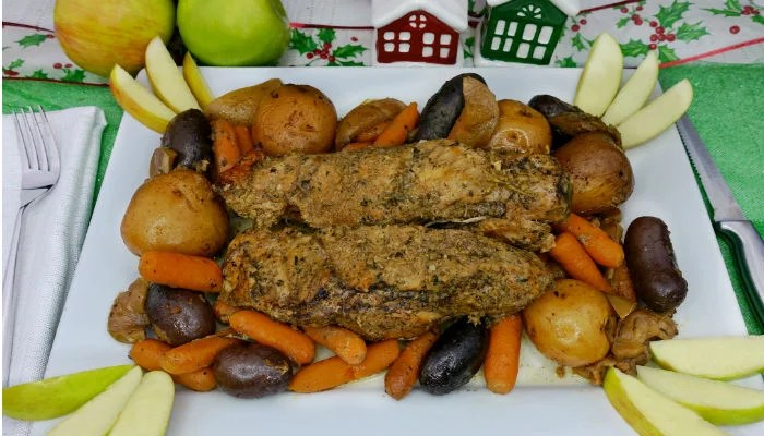 Slow-Cooker Paleo Apple Pork Tenderloin