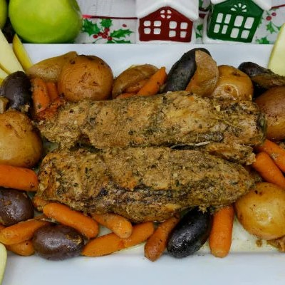 Paleo Apple Pork Tenderloin Slow Cooker Recipe