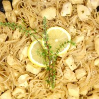 Lemon Thyme Honey Chicken with Gluten-Free Angel Hair Pasta
