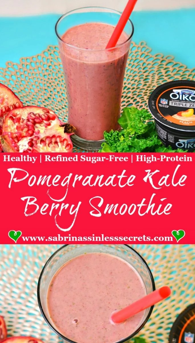 Pomegranate Kale Berry Smoothie
