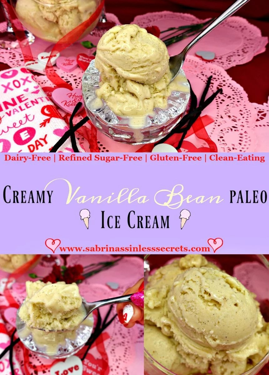 Creamy Vanilla Bean Paleo, Dairy-Free, Refined Sugar-Free, Clean-Eating, and Gluten-Free Ice Cream