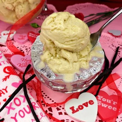 Creamy Vanilla Bean Paleo Ice Cream
