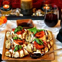 Chicken Caprese with Paleo Balsamic Reduction