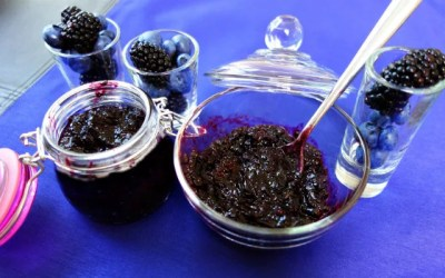 Paleo Black and Blueberry Jam