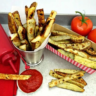 Seasoned Oven Baked Crispy French Fries