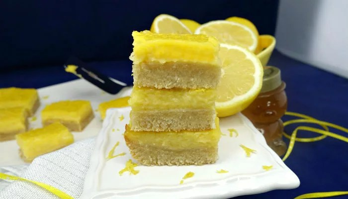 Paleo Lemon Bars with a Shortbread Crust