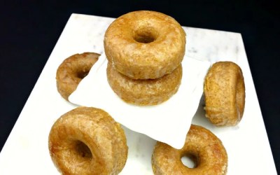 Paleo Maple Glazed Baked Donuts