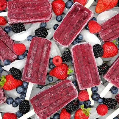 Paleo Mixed Berry Pomegranate Popsicles