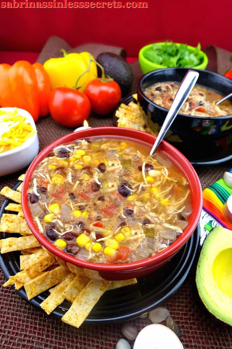 This Gluten-Free Slow-Cooker Tortilla Chicken Soup is the perfect sinless comfort food!