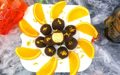 Dark Chocolate Orange Cream Paleo Truffles
