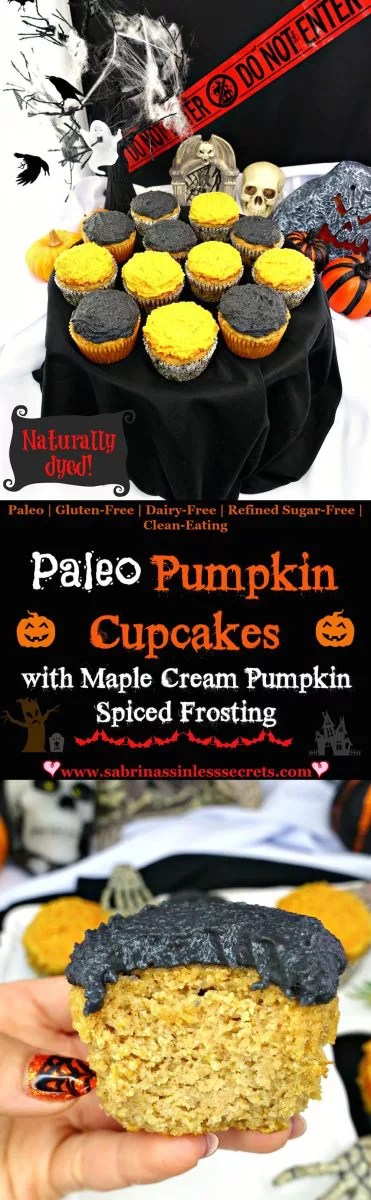 These Paleo Pumpkin Cupcakes with Maple Cream Pumpkin Spiced Frosting are the ultimate fall dessert! The cupcakes are moist and fluffy, while the frosting is thick, creamy, and offers just the right amount of sweetness. One of the coolest things about these cupcakes is that the frosting is NATURALLY dyed! More awesomeness … they're also Paleo, gluten-free, dairy-free, refined sugar-free, grain-free, and clean-eating!
